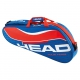 Head Tour Team 3 Pk Pro Tennis Bag (Blue/Red) - Head Tennis Bags