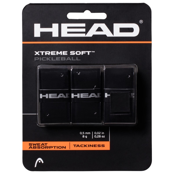 Head Xtreme Soft Pickleball Paddle Overgrip (Black)