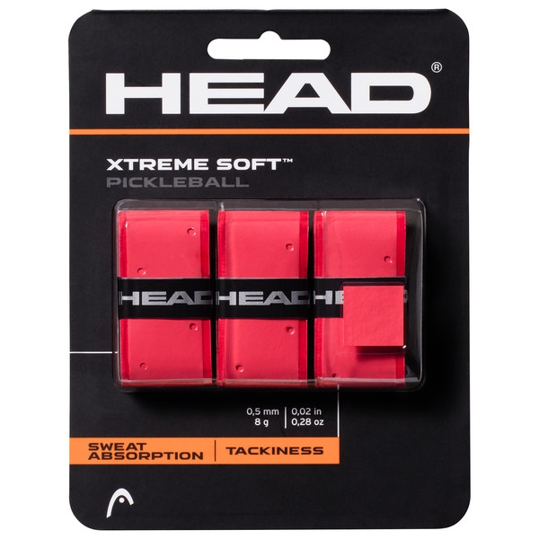 Head Xtreme Soft Pickleball Paddle Overgrip (Red)