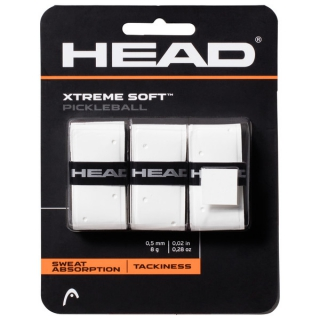 Head Xtreme Soft Pickleball Paddle Overgrip (White)
