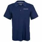 Head Men's Spacedye Gotham Polo (Estate Blue Heather) - HEAD Tennis Apparel
