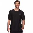 Head Men's Score Hypertek Tennis Crew (Black Heather) - HEAD Tennis Apparel