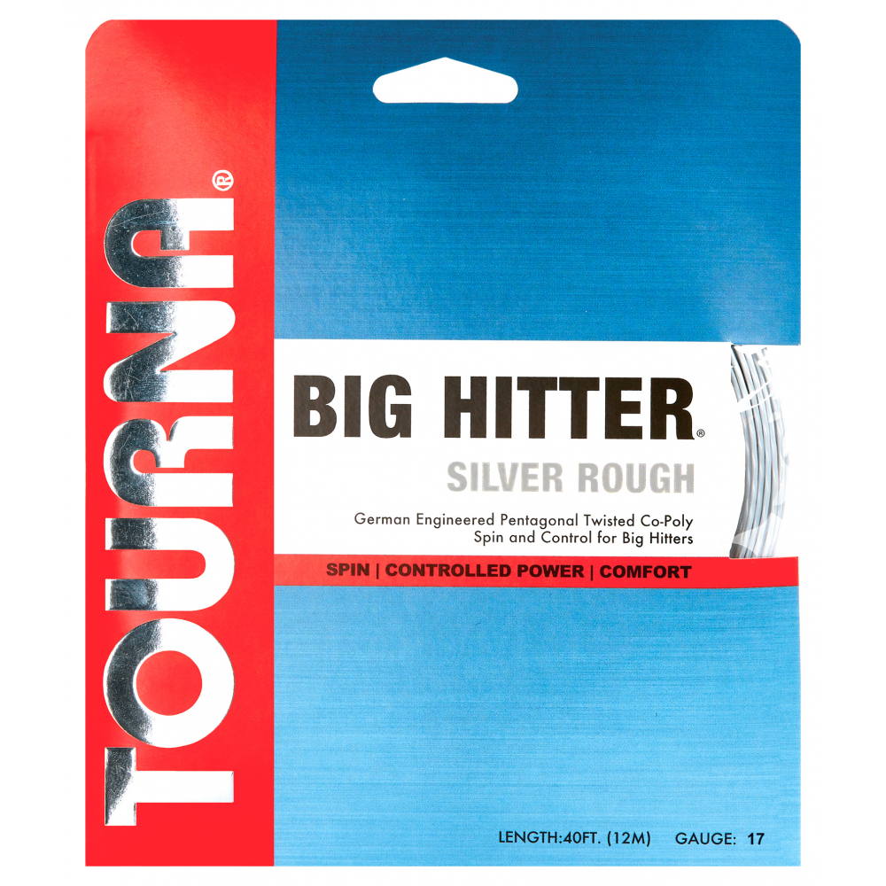 Tourna Big Hitter Silver Rough 17g Tennis String (Set)