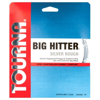 Tourna Big Hitter Silver Rough 17g Tennis String (Set)
