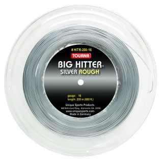 Tourna Big Hitter Silver Rough 17g Tennis String (Reel)