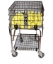 HOAG Teach 'n' Travel Cart with Lid - Tennis Teaching Carts & Ball Mowers