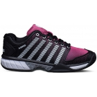 K-Swiss Women's Hypercourt Express Tennis Shoes (Black/Shocking Pink) - K-Swiss