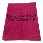 40 Love Courture Phrase Tennis Towel (Play Like a Girl) - Tennis Accessories