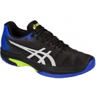 Asics Men's Solution Speed FF Tennis Shoes (Black/Illusion Blue) - Types of Tennis Shoes