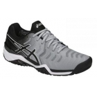 Asics Men's Gel Resolution 7 Tennis Shoes (Mid Grey/Black/White) - Asics Tennis Shoes