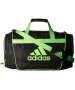 Adidas Defender II Small Duffel Bag (Black/Solar Green) - Adidas Tennis Bags
