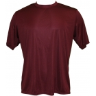 A4 Men's Performance Crew Shirt (Maroon) - A4 Tennis Apparel