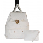 Court Couture Hampton Backpack (Ivory Quilted) - Court Couture