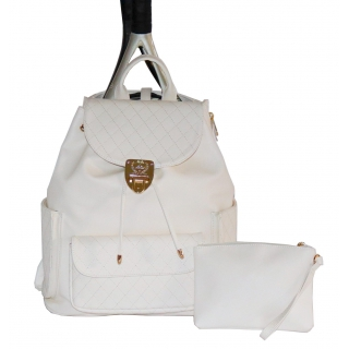 Court Couture Hampton Backpack (Ivory Quilted)