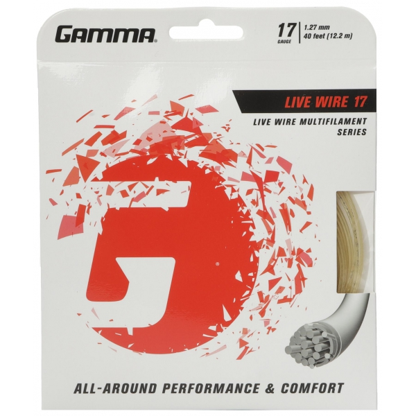 Gamma Live Wire 17g Tennis String (Set)