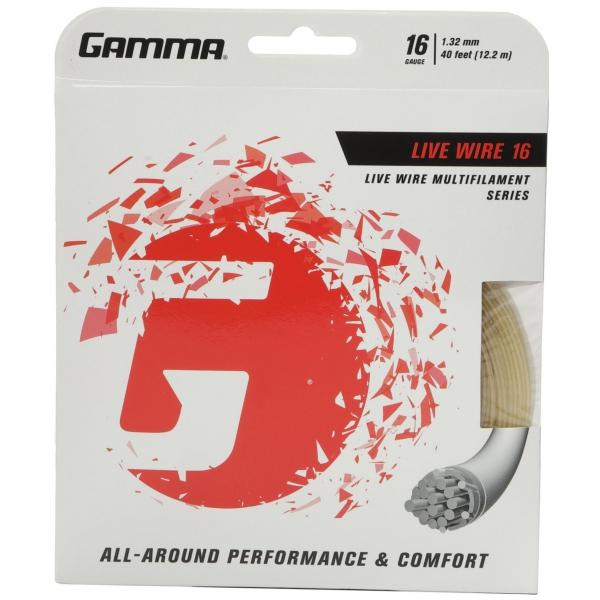 Gamma Live Wire 16g Tennis String (Set)
