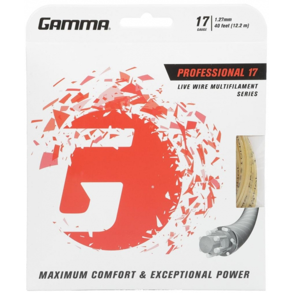 Gamma Live Wire Professional 17g Tennis String (Set)