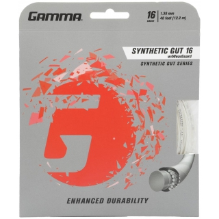 Gamma Synthetic Gut with Wearguard 16g Tennis String (Set)
