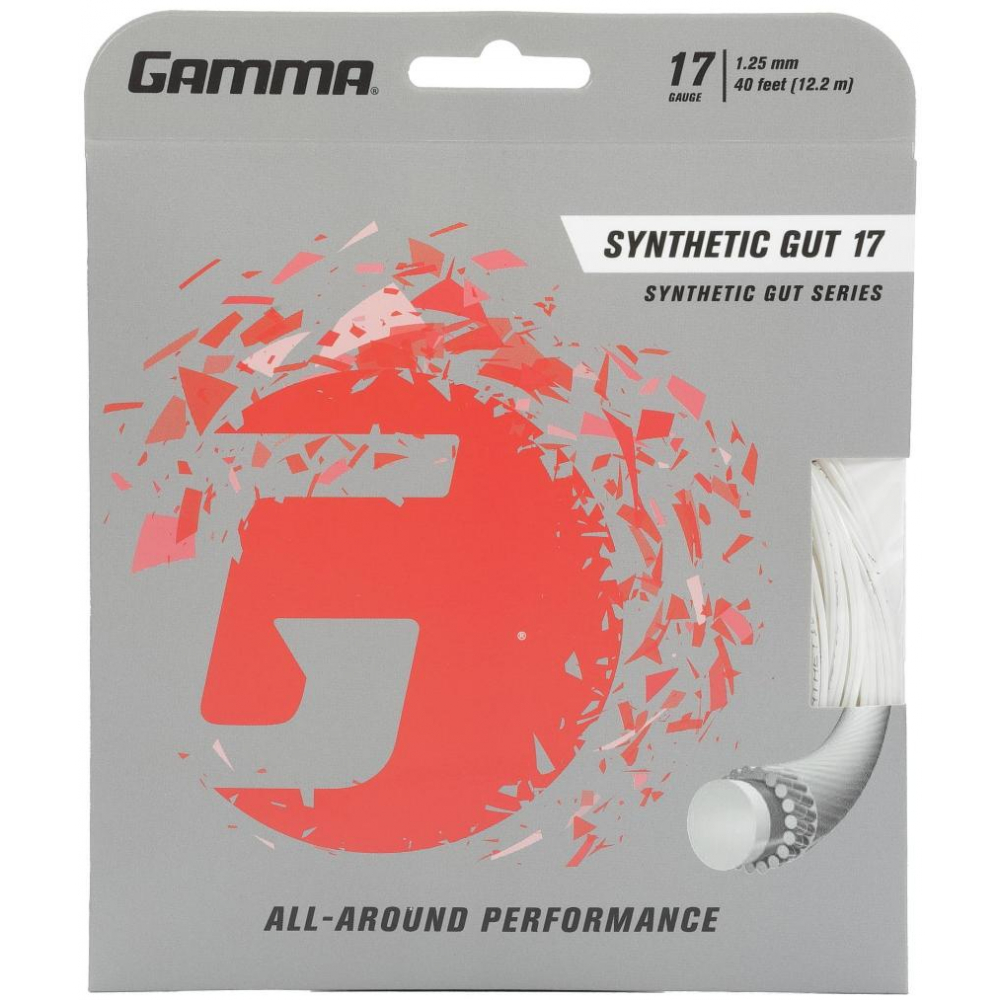 Gamma Synthetic Gut 17g Tennis String (Set)