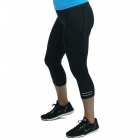 Bloq-UV Compression Capri Tights with Reflective Stripe (Black) - Bloq-UV Women's Skirts & Skorts