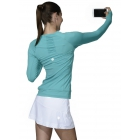 BloqUV Women's Sun Protective Long Sleeve Athletic Pullover Tee Shirt (Caribbean Blue) - Women's Warm-Ups