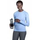 BloqUV Women's Reflective Waist Long Sleeve Sun Protective Athletic Top (Indigo) - Women's Warm-Ups