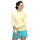 BloqUV Women's Long Sleeve 24/7 Sun Protective Athletic Tee Shirt (Lemon Yellow) -