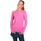 BloqUV Women's Sun Protective Long Sleeve Athletic Pullover Tee Shirt (Bubble Gum) - Women's Warm-Ups
