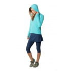 BloqUV Women's Sun Protective Full Zip Athletic Hoodie (Light Turquoise) - Women's Warm-Ups