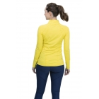 BloqUV Women's Sun Protective Mock Zip Long Sleeve Athletic Top (Mellow Yellow) - Tennis Online Store