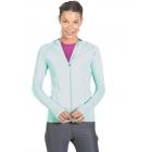 BloqUV Women's Sun Protective Full Zip Athletic Hoodie (Mint) -