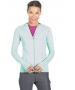 BloqUV Women's Sun Protective Full Zip Athletic Hoodie (Mint) - Women's Warm-Ups