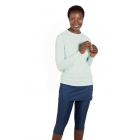 BloqUV Women's Sun Protective Long Sleeve Athletic Pullover Tee Shirt (Mint) - Women's Warm-Ups