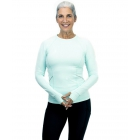 BloqUV Women's Reflective Waist Long Sleeve Sun Protective Athletic Top (Mint) - Women's Warm-Ups
