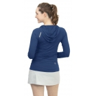 BloqUV Women's Sun Protective Full Zip Athletic Hoodie (Navy) -