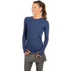 BloqUV Women's Sun Protective Long Sleeve Athletic Pullover Tee Shirt (Navy) - Women's Warm-Ups