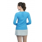 BloqUV Women's Sun Protective Long Sleeve Athletic Pullover Tee Shirt (Ocean Blue) - Women's Warm-Ups