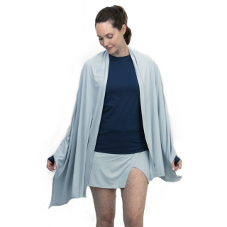 BloqUV UPF 50+ Sun Protective Blanket Wrap (Soft Gray)