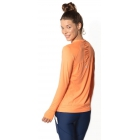 BloqUV Women's Sun Protective Long Sleeve Athletic Pullover Tee Shirt (Tangerine) - Tennis Online Store