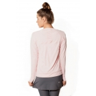 BloqUV Women's Sun Protective Long Sleeve Athletic Pullover Tee Shirt (Tickle Me Pink) - Women's Warm-Ups