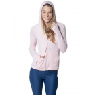BloqUV Women's Sun Protective Full Zip Athletic Hoodie (Tickle Me Pink) -