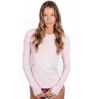 BloqUV Women's Reflective Waist Long Sleeve Sun Protective Athletic Top (Tickle Me Pink) - Tennis Online Store