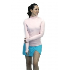 BloqUV Women's Sun Protective Long Sleeve Turtleneck Athletic Top (Tickle Me Pink) - Women's Warm-Ups