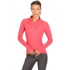 BloqUV Women's Sun Protective Mock Zip Long Sleeve Athletic Top (Watermelon)  -