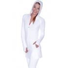 BloqUV Women's Sun Protective Full Zip Athletic Hoodie (White) -