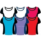 In-Between Contrast Top (+ Sizes) 65W (CLOSEOUT) - Women's Plus Sizes Tennis Apparel