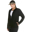 In-Between Full-Zip Jacket w/ 2 Side Pockets (Plus Sizs) 79W - Women's Outerwear Jackets Tennis Apparel