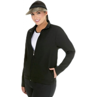 In-Between Full-Zip Jacket w/ 2 Side Pockets (Plus Sizs) 79W
