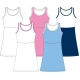 In-Between Girls Princess Tennis Dress 99G - In-Between Junior Apparel Tennis Apparel