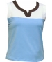 In-Between Plaket Tennis Tank (Blu/Wht/Brn) - In-Between Tennis Apparel